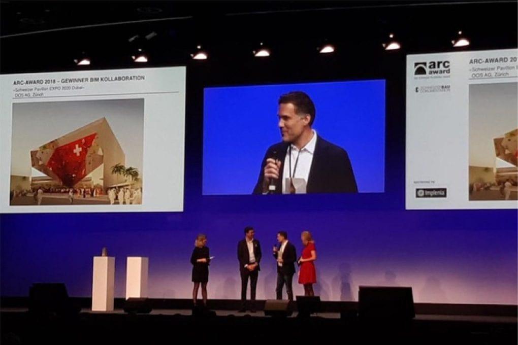 Nächste Siegestrophäe – Schweizer Pavillon EXPO 2020 gewinnt den Arc-Award BIM